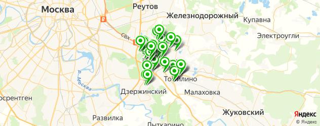 поликлиники на карте Люберец