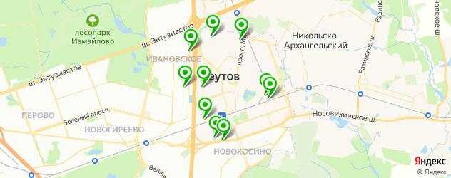 гаражи на карте Реутова