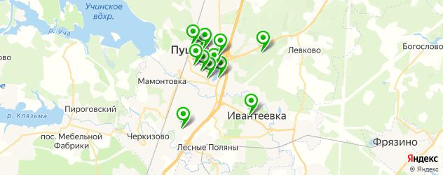 тренажерные залы на карте Пушкино