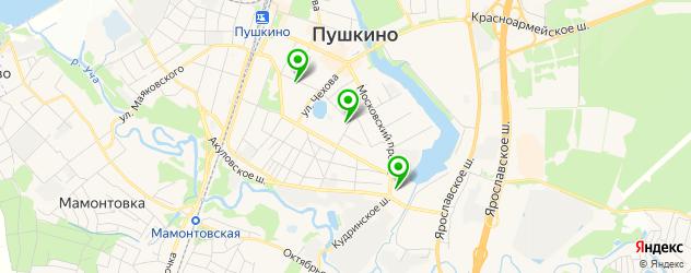 женские консультации на карте Пушкино