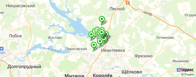 банки на карте Пушкино
