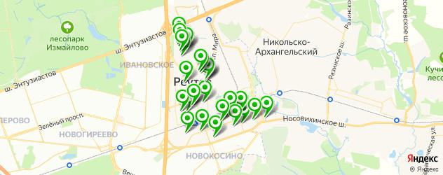 детские сады на карте Реутова