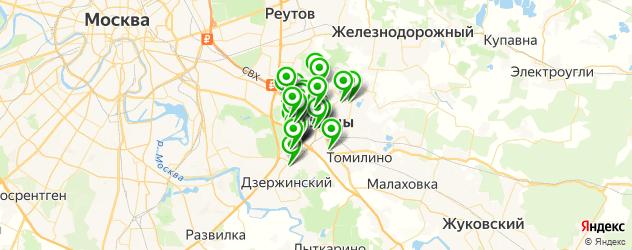 лаборатории анализов на карте Люберец