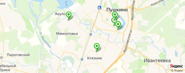 поликлиники на карте Пушкино