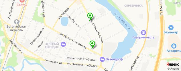 стоматологические поликлиники на карте Пушкино
