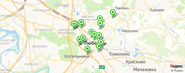 тюнинги ателье на карте Люберец