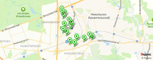 спортивные школы на карте Реутова