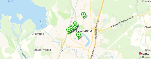 фотостудии на карте Пушкино
