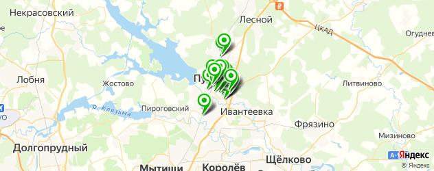 аптеки на карте Пушкино