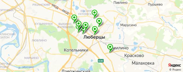 букмекерские конторы на карте Люберец