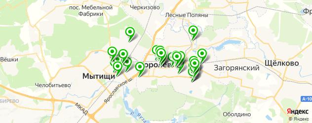 банкоматы с функцией приема наличных на карте Королева
