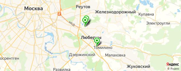 НИИ на карте Люберец