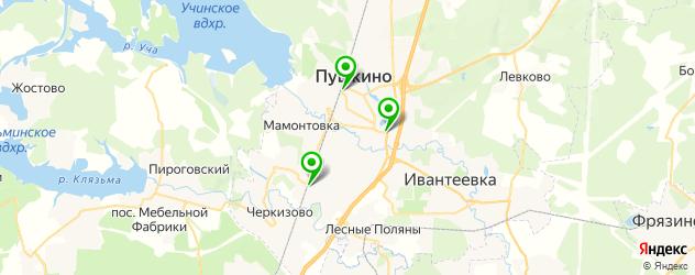 японские рестораны на карте Пушкино