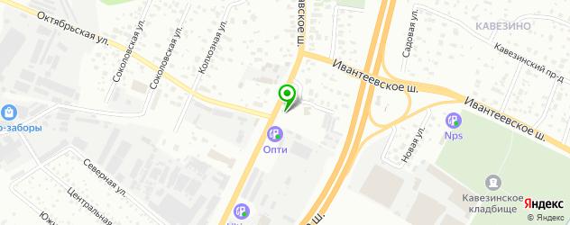 ночные клубы на карте Пушкино