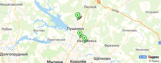 автостоянки на карте Пушкино