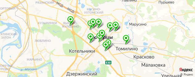 гимназии на карте Люберец
