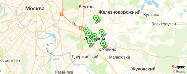 бассейны на карте Люберец