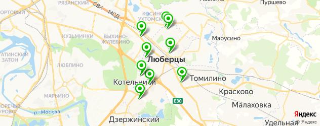 женские фитнес-клубы на карте Люберец