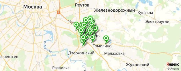 Доставка шашлыка на карте Люберец