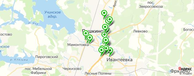 АЗСЫ на карте Пушкино