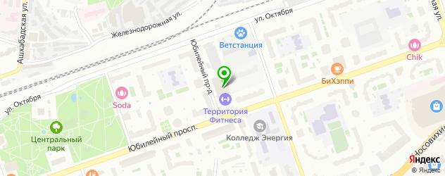 секции бокса на карте Реутова