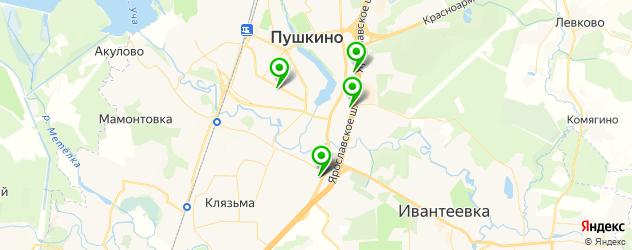 магазины автоаксессуаров на карте Пушкино