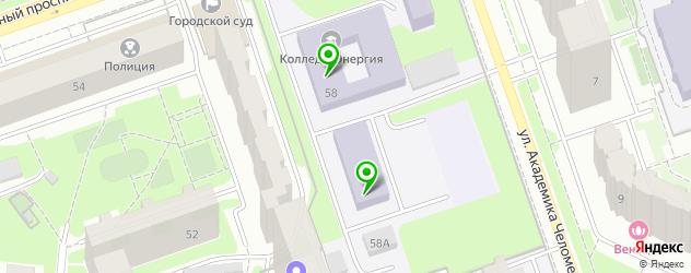 колледжи на карте Реутова