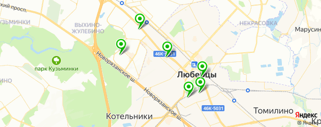 кадровые агентства на карте Люберец