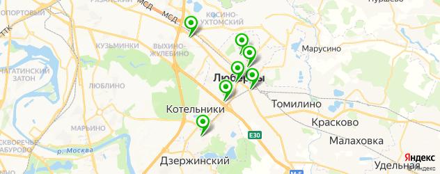 университеты на карте Люберец