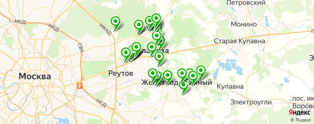 автосервисы на карте Балашихи