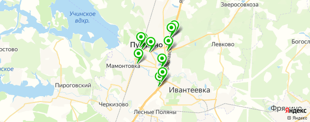 фасты фуд на карте Пушкино