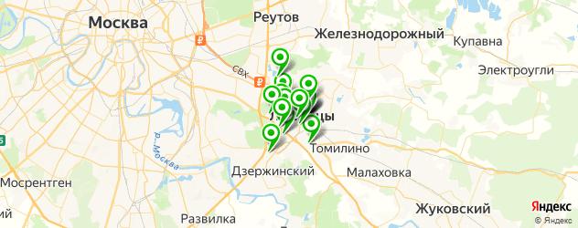 фотостудии на карте Люберец