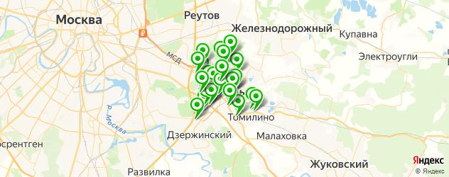 изготовления ключей на карте Люберец