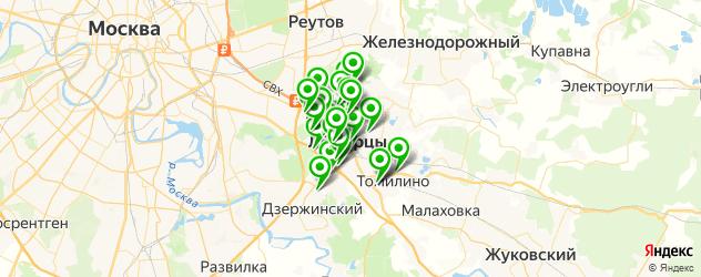 тренажерные залы на карте Люберец