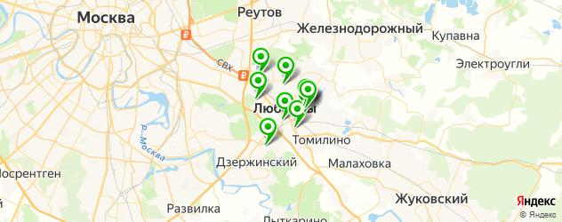 спортивные школы на карте Люберец