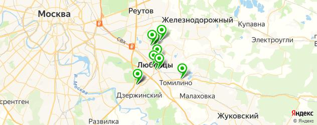 детские развлекательные центры на карте Люберец