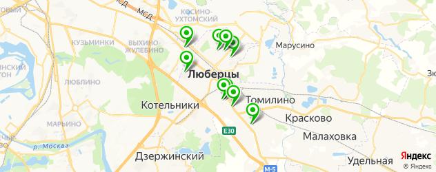 детские больницы на карте Люберец