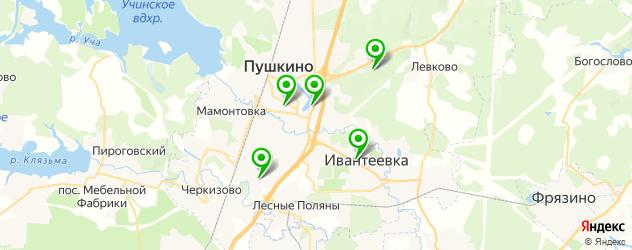 бассейны на карте Пушкино