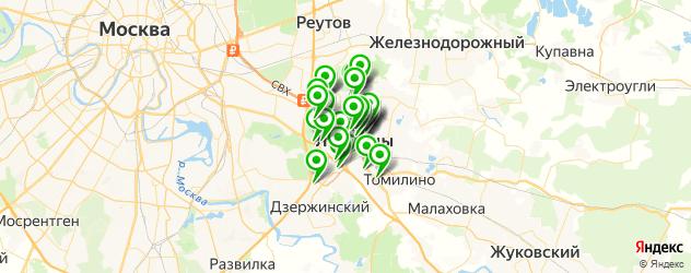 химчистки на карте Люберец