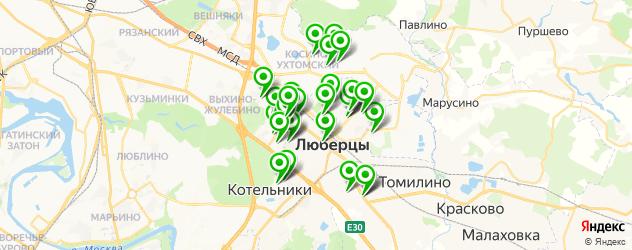 детские стоматологические поликлиники на карте Люберец