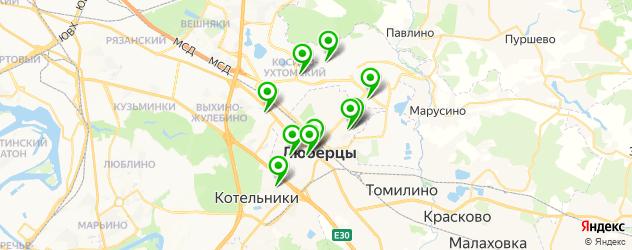 пирсинги салон на карте Люберец