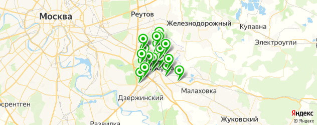 спортивные секции на карте Люберец