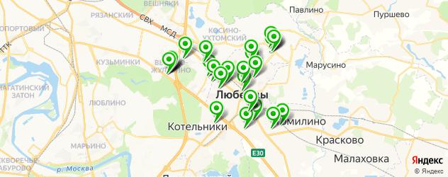 автостоянки на карте Люберец