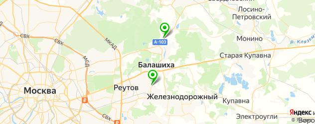 конные клубы на карте Балашихи