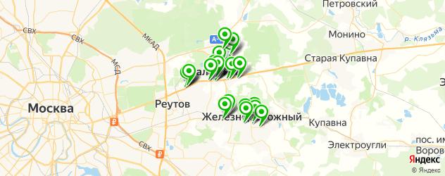 Еда на карте Балашихи