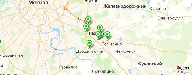 эвакуаторы на карте Люберец
