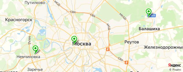 разборки скутеров на карте Москвы