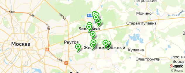 меховые ателье на карте Балашихи