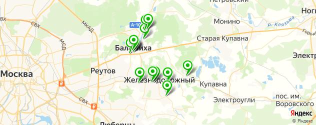 салоны бровей на карте Балашихи