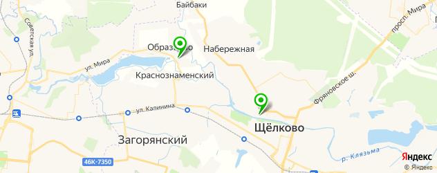спортивные секции на карте Щелково